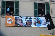 Supporters Michele Scarponi during the UCI World Tour, Tirreno-Adriatico 2018, Stage 5, Castelraimondo to Filottrano, in Italy, on March 11, 2018 - Photo Laurent Lairys / ProSportsImages / DPPI