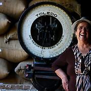 La Candelilla coffee farm matriarch Maria Lidia Godínez Porras is shown in a processing facility on the farm. (Joshua Trujillo, Starbucks)
