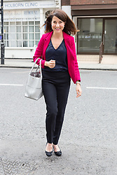 © Licensed to London News Pictures. 01/09/2015. London, UK. Liz Kendall arrives at Channel 4 studios in London today for a Labour leadership debate. Photo credit : Vickie Flores/LNP