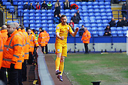 Preston North End Defender Marnick Vermijl celebrates making it 2-1 during the Sky Bet Championship match between Bolton Wanderers and Preston North End at the Macron Stadium, Bolton, England on 12 March 2016. Photo by Pete Burns.