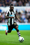 Newcastle United midfielder Christian Atsu (#30) in action during the EFL Sky Bet Championship match between Newcastle United and Barnsley at St. James's Park, Newcastle, England on 7 May 2017. Photo by Craig Doyle.