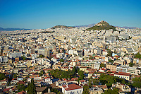 Grece, Attique, Athenes, vue generale et la colline de Lycabette // Greece, Attica, Athens, general view with the Lycabettus Hill