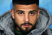 Lorenzo Insigne of Napoli on the bench before the UEFA Champions League, Group E football match between SSC Napoli and KRC Genk on December 10, 2019 at Stadio San Paolo in Naples, Italy - Photo Federico Proietti / ProSportsImages / DPPI