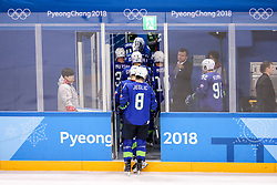 GANGNEUNG, SOUTH KOREA - FEBRUARY 17: Ziga Jeglic of Slovenia during the ice hockey match between Slovenia and Slovakia in  the Preliminary Round on day eight of the PyeongChang 2018 Winter Olympic Games at Kwangdong Hockey Centre on February 17, 2018 in Gangneung, South Korea. Photo by Kim Jong-man / Sportida