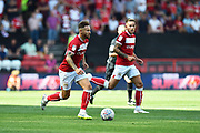Matty Taylor (10) of Bristol City on the attack during the EFL Sky Bet Championship match between Bristol City and Nottingham Forest at Ashton Gate, Bristol, England on 4 August 2018. Picture by Graham Hunt.