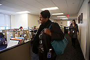 D.C. Public Schools Chancellor Kaya Henderson walks through her office Friday, Nov. 16, 2012 in Washington, D.C. Henderson recently announced that she plans to close 20 under-enrolled schools across the district. CREDIT: Lexey Swall for The Wall Street Journal