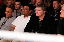 """""""Battle of the bulge"""" Former World Champion Prince Naseem Hamed and Ricky Hatton watch from ringside as European light-middleweight champion Ryan Rhodes moved closer to world title shot with a sixth-round stoppage victory over Italian challenger Luca Messi in Sheffield on Friday.22nd May 2010"""
