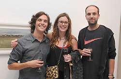 Graham Sweeney, Eily O&rsquo;Connell and Ross Sinclair enjoying Culture Night at the Custom House studio Westport. <br /> Pic Conor McKeown