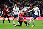 Heung-Min Son (7) of Tottenham Hotspur takes the ball off Lewis Cook (16) of AFC Bournemouth during the Premier League match between Bournemouth and Tottenham Hotspur at the Vitality Stadium, Bournemouth, England on 11 March 2018. Picture by Graham Hunt.