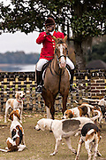 Huntsman Jamie Green during the Blessing of the Hounds to mark the first hunt of the season at Middleton Place Plantation December 1, 2013 in Charleston, SC.