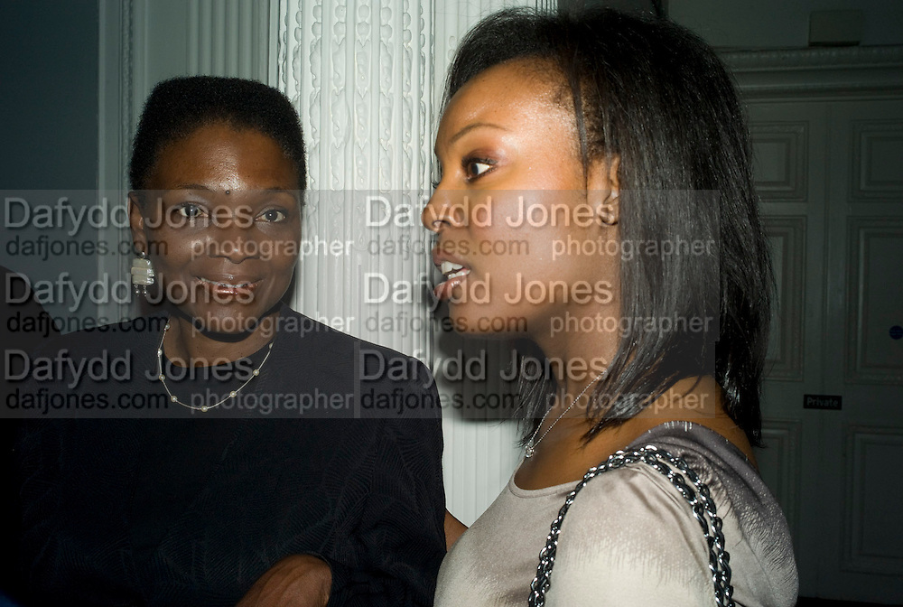 JUNE SARPONG; KAREN CUMMINGS-PALMER; June Sarpong  celebrates launch of her new political website, PoliticsAndTheCity.com. Institute Of Contemporary Arts (ICA), The Mall, London, SW1 8 July 2008 *** Local Caption *** -DO NOT ARCHIVE-© Copyright Photograph by Dafydd Jones. 248 Clapham Rd. London SW9 0PZ. Tel 0207 820 0771. www.dafjones.com.