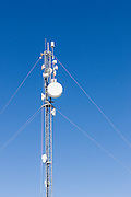 microwave data link backhaul parabolic dish antenna on tower in Mackay, Queensland, Australia