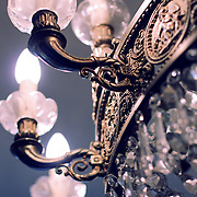 Chandelier lights, Barcelona, Spain (December 2006)