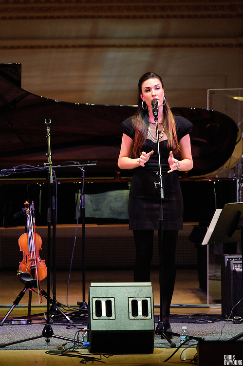 "Kristina Train at Herbie Hancock's ""Seven Decades: The Birthday Celebration"" at Carnegie Hall. June 24, 2010"