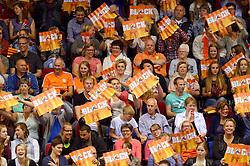 20150619 NED: World League Nederland - Portugal, Groningen<br /> De Nederlandse volleyballers hebben in de World League ook hun eerste duel met Portugal met 3-0 gewonnen / Oranje support publiek