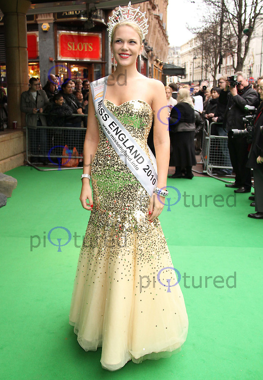 Miss England Jessica Linley Yogi Bear - Gala Screening, Vue Cinema, Leicester Square, London, UK, 06 February 2011: Contact: Ian@Piqtured.com +44(0)791 626 2580 (Picture by Richard Goldschmidt)