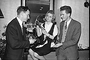 """Young Londoner Footwear"" a Hanover Shoe Footwear Reception, at the Moira Hotel, Dublin..12.11.1963"