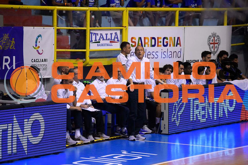 Ettore Messina<br /> Italia - Finlandia<br /> Nazionale Italiana Maschile<br /> Torneo Sardegna a Canestro 2017<br /> Cagliari 11/08/2017<br /> Foto Ciamillo-Castoria