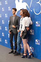 Pierre Niney, Francois Ozon and Paula Beer at the Frantz film photocall at the 73rd Venice Film Festival, Sala Grande on Saturday September 3rd 2016, Venice Lido, Italy.