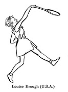 Sorry, No Croquet ; Wimbledon tennis<br /> Louise Brough ( USA )