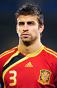 Gerard Pique  during the soccer match of the 2009 Confederations Cup between Spain and South Africa played at the Freestate Stadium,Bloemfontein,South Africa on 20 June 2009.  Photo: Gerhard Steenkamp/Superimage Media.