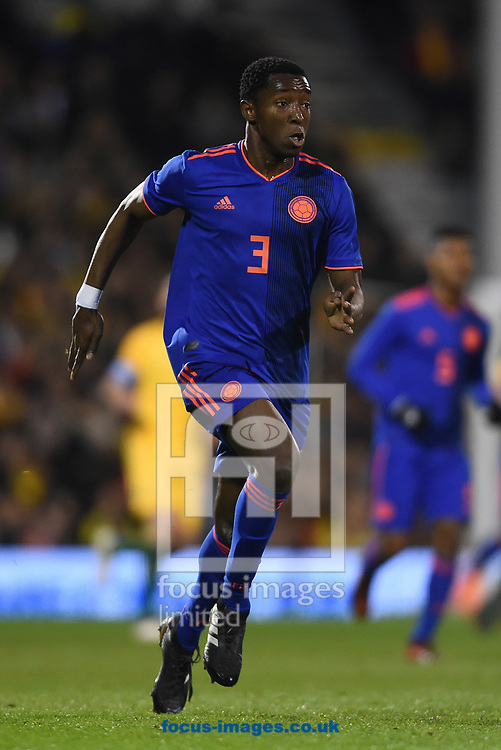 Oscar Murillo  of Colombia during the International Friendly match at Craven Cottage, London<br /> Picture by Daniel Hambury/Focus Images Ltd 07813022858<br /> 27/03/2018