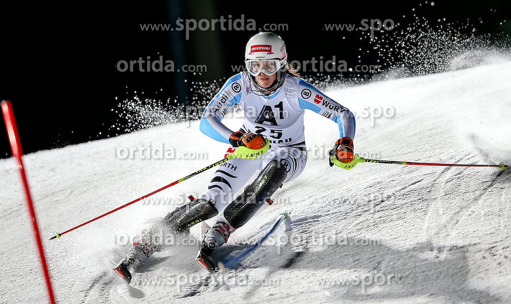 13.01.2015, Hermann Maier Weltcupstrecke, Flachau, AUT, FIS Weltcup Ski Alpin, Flachau, Slalom, Damen, 1. Lauf, im Bild Christina Geiger (GER) // Christina Geiger of Germany in action during 1st run of the ladie's Slalom of the FIS Ski Alpine World Cup at the Hermann Maier Weltcupstrecke in Flachau, Austria on 2015/01/13. EXPA Pictures © 2015, PhotoCredit: EXPA/ Johann Groder