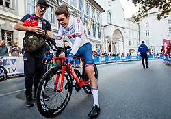 DOWSETT Alex of Great Britain during the Men Elite Individual Time Trial a 52.5km race from Rattenberg to Innsbruck 582m at the 91st UCI Road World Championships 2018 / ITT / RWC / on September 26, 2018 in Innsbruck , Austria.Photo by Vid Ponikvar / Sportida