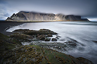 Stokksnes beach at Horn, Southeast Iceland.