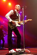 "STATUS QUO en concert.tournee ""QUID PRO QUO TOUR"" 2010/2011.Francis Rossi - chant, guitare solo.Rick Parfitt - chant, guitare rythmique.Andrew Bown - chant, claviers, harmonica, guitare .John ""Rhino"" Edwards - chant, basse.Matt Letley - batterie.(Photo by Arnold Jerocki/)"