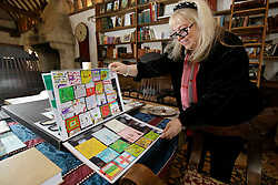UK ENGLAND THAME 27AUG14 - Dwina Gibb, widow of Bee Gee Robin Gibb presents a book made by children from Robin Gibb's former school.<br /> <br /> <br /> <br /> jre/Photo by Jiri Rezac<br /> <br /> <br /> <br /> © Jiri Rezac 2014