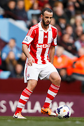 Stoke Defender Marc Wilson (IRL) in action - Photo mandatory by-line: Rogan Thomson/JMP - 07966 386802 - 23/03/2014 - SPORT - FOOTBALL - Villa Park, Birmingham - Aston Villa v Stoke City - Barclays Premier League.