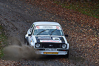 #7 Paul Swift / Jessica Swift Ford Escort RS Bolton-le-Moors /Durhamduring Neil Howard Memorial Stage Rally, and opening round of the 2015 Motorsport News Rally Championship.  at Oulton Park, Little Budworth, Cheshire, United Kingdom. November 07 2015. World Copyright Peter Taylor. Copy of publication required for printed pictures.  Every used picture is fee-liable. http://archive.petertaylor-photographic.co.uk