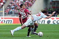 24.04.2011, easy Credit Stadion, Nuernberg, GER, 1.FBL, 1. FC Nuernberg / Nürnberg vs 1. FSV Mainz 05, im Bild:.Timothy Chandler (Nuernberg #26) gg Christian Fuchs (Mainz #22).EXPA Pictures © 2011, PhotoCredit: EXPA/ nph/  Will       ****** out of GER / SWE / CRO  / BEL ******