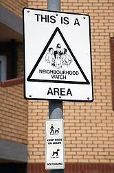 Neighbourhood watch sign post,