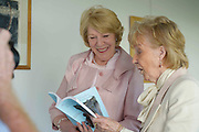 Patricia Burke Brogan and  Sabina Higgins, wife of President Michael D Higgins,  at the launch of Patricia's book Memoir with Grykes and Turloughs at the Galway Education Centre. Photo:Andrew Downes