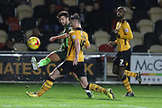 George Francomb of AFC Wimbledon during the Sky Bet League 2 match between Newport County and AFC Wimbledon at Rodney Parade, Newport, Wales on 19 December 2015. Photo by Stuart Butcher.