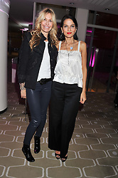 Left to right, MELISSA ODABASH and YASMIN MILLS at a private view of photographs by Joanna Vestey entitled 'Dreams For My Daughter' in aid of The White Ribbon Alliance, held at The Royal Festival Hall, South Bank, London on 8th March 2012.