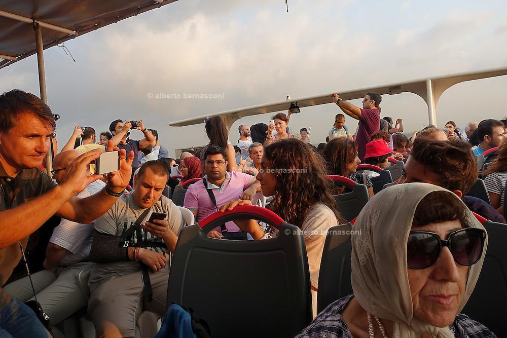 Turkey, Istanbul, boat trip on the bosphore