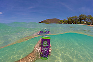 Sambazon's Amazon Energy drink, photographed in Maui