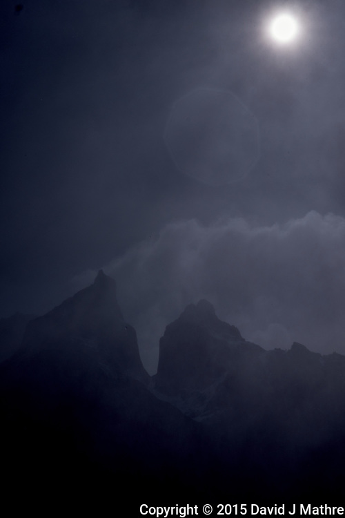 Sun and Clouds in Torres del Paine National Park. Image taken with a Fuji X-T1 camera and Zeiss 32 mm f/1.8 lens.