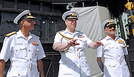 "PRINCE ANDREW.is escorted by Rear Admiral Girish Luthra (L), Fleet Commander Western Fleet, and Vice Admiral D K Joshi, Commander-in-Chief Western Naval Command, on a tour of Indian aircraft carrier INS Viraat(formally HMS Hermes on which his brother Prince Charles had served in the capacity of British naval officer), in Mumbai, India_May 2, 2012. .The Duke of York, who is representing Queen Elizabeth II in the year of her Diamond Jubilee is on a week long tour of India..Mandatory Credit Photo: ©Sherwin Crasto-Solaris/NEWSPIX INTERNATIONAL..(Failure to credit will incur a surcharge of 100% of reproduction fees)..                **ALL FEES PAYABLE TO: ""NEWSPIX INTERNATIONAL""**..IMMEDIATE CONFIRMATION OF USAGE REQUIRED:.Newspix International, 31 Chinnery Hill, Bishop's Stortford, ENGLAND CM23 3PS.Tel:+441279 324672  ; Fax: +441279656877.Mobile:  07775681153.e-mail: info@newspixinternational.co.uk"