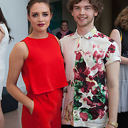 13.05.2016.           <br />   Katie Deegan, West Meath and Aran Crotty, Clonmel pictured at the much anticipated Limerick School of Art & Design, LIT, (LSAD) Graduate Fashion Show on Thursday 12th May 2016. The show took place at the LSAD Gallery where 27 graduates from the largest fashion degree programme in Ireland showcased their creations. Ranked among the world's top 50 fashion colleges, Limerick School of Art and Design is continuing to mould future Irish designers.. Picture: Alan Place/Fusionshooters