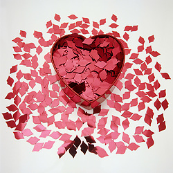 Dec. 13, 2012 - Confetti and a heart shaped box (Credit Image: © Image Source/ZUMAPRESS.com)