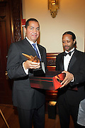 l to r: R. Donahue Peeples and Kyle Donavan at The 2009 NV Awards: A Salute to Urban Professionals sponsored by Hennessey held at The New York Stock Exchange on February 27, 2009 in New York City. ....