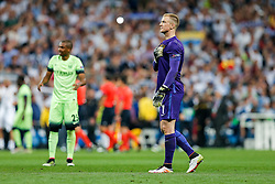 A dejected Joe Hart of Manchester City thanks the fans after Real Madrid win 1-0 to progress for the Champions League Final - Mandatory byline: Rogan Thomson/JMP - 04/05/2016 - FOOTBALL - Santiago Bernabeu Stadium - Madrid, Spain - Real Madrid v Manchester City - UEFA Champions League Semi Finals: Second Leg.