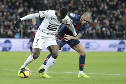 January 27, 2019 - Paris, Ile de France, France - Ismaila SARR (Stade Rennais Football Club), Daniel Alves da Silva  (Credit Image: © Panoramic via ZUMA Press)