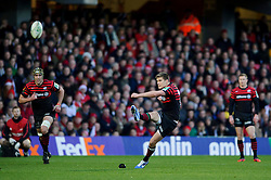 Saracens Fly-Half (#10) Owen Farrell kicks a Penalty during the first half of the match - Photo mandatory by-line: Rogan Thomson/JMP - Tel: Mobile: 07966 386802 16/12/2012 - SPORT - RUGBY - Vicarage Road - Watford. Saracens v Munster Rugby - Heineken Cup Round 4.