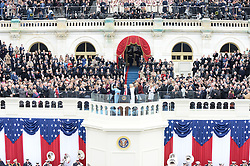 President Donald Trump waves after taking the Oath of Office at the inauguration on January 20, 2017 in Washington, D.C. Trump became the 45th President of the United States. Photo by Pat Benic/UPI