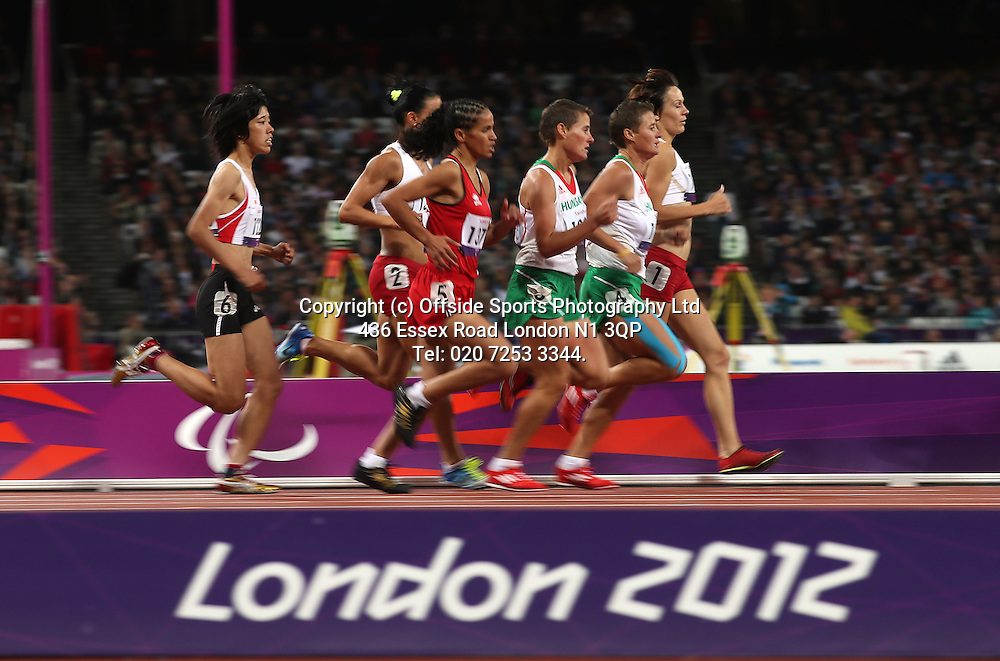 05 September 2012 Paralympic Games . Athletics.<br /> The womens 1500 M T20 race.<br /> Photo: Mark Leech.